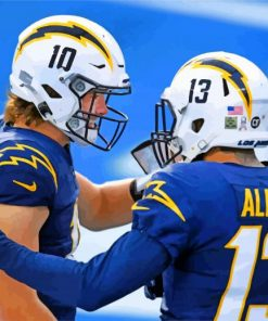 La Chargers Players paint by numbers
