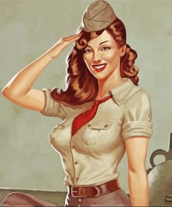 Military Woman paint by numbers