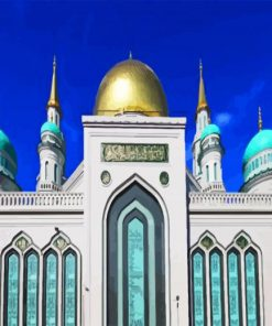 Cathedral Mosque In Moscow paint bynumbers