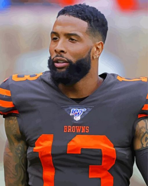 Odell Cornelious Beckham paint by numbers