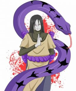 Orochimaru And Snake paint by numbers