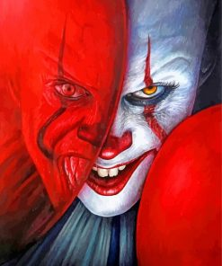 Scary Pennywise paint by numbers