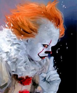 Pennywise Side Profile paint by numbers