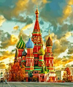 St Basil's Cathedral Moscow paint by numbers