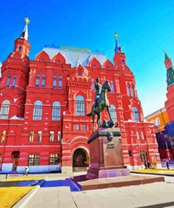 State Historical Museum In Moscow paint by numbers