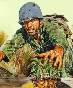 War Military Soldiers paint by numbers
