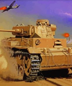 War Military Tank paint by numbers