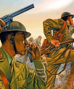 Soldiers In War paint by numbers
