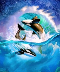 Aesthetic Orcas paint by numbers