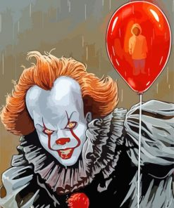Pennywise And Red Balloon paint by numbers