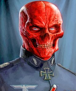 Red Skull Marvel paint by numbers