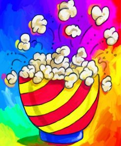 Colorful Popcorn paint by numbers