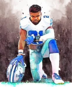 Ezekiel Elliott NFL Player paint by numbers