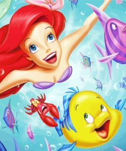 Ariel And Her Friends paint by numbers