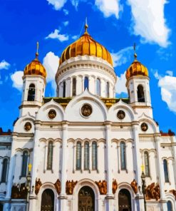Moscow Cathedral paint by numbers
