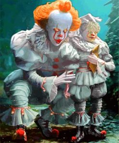 Pennywise And Georgie paint by numbers