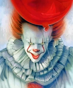 Clown Pennywise Movie paint by numbers
