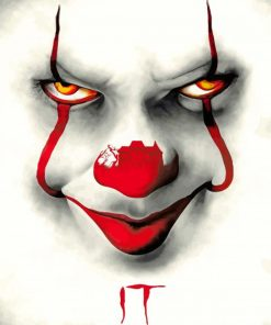 Pennywise Clown Face paint by numbers