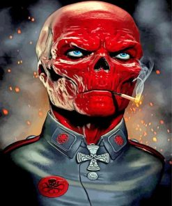 Aesthetic Red Skull paint by numbers