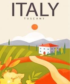 Tuscany Italy Poster paint by numbers