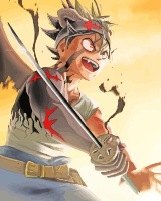 Asta Black Clover Anime paint by numbers