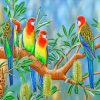 Aesthetics Eastern Rosella Birds paint by numbers