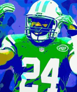 Illustration New York Jets Player paint by numbers