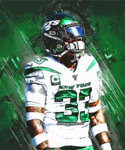 Jets American Football Player paint by numbers