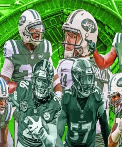 New York Jets Team paint by numbers
