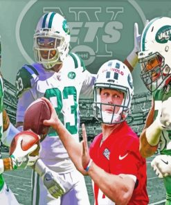Players Of New York Jets paint by numbers