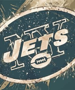 New York Jets Logo paint by numbers