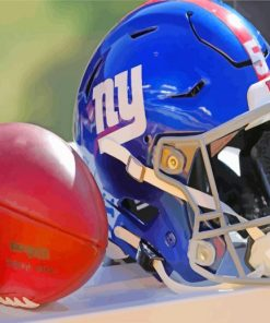 NFL Wilson Ball And Helmet paint by numbers