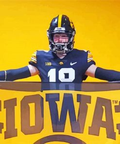 Iowa Hawkeyes Player And Flag paint by numbers