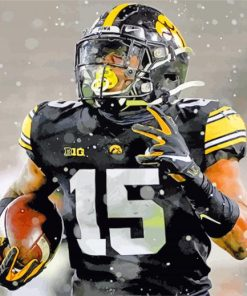 Tyler Goodson Iowa Hawkeyes paint by numbers